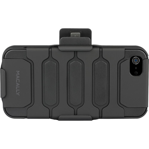 Macally Holster Case With Belt Clip & Stand for iPhone 5 (Black)