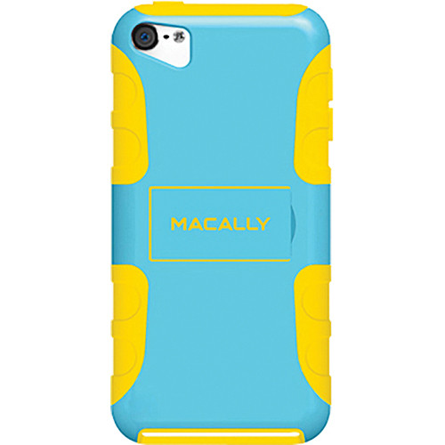 Macally Protective Flexible Case with Stand for iPod Touch 5G (Blue/Yellow)
