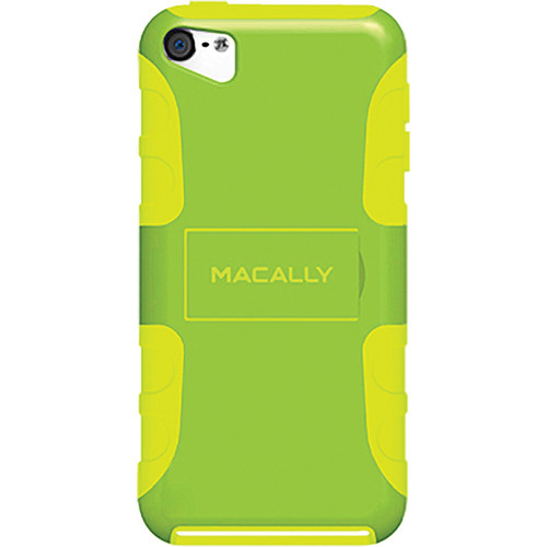 Macally Protective Flexible Case with Stand for iPod Touch 5G (Green/Lime Green)