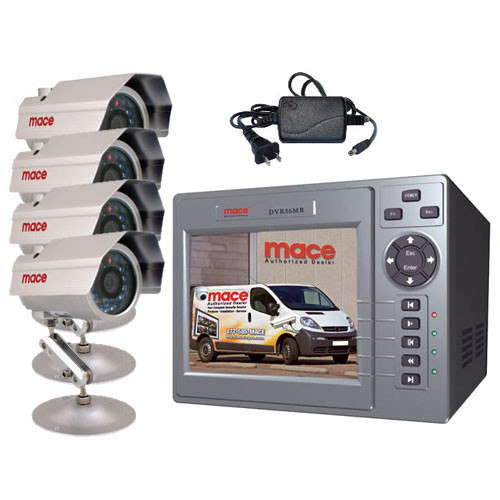 Mace MSP-04MR00L02 4 Channel DVR/Monitor Combo - Includes: