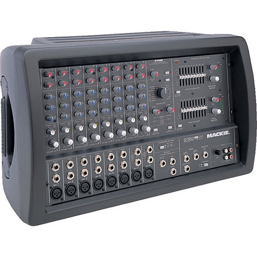 mackie 808m 8 channel powered mixer 808m b h photo video. Black Bedroom Furniture Sets. Home Design Ideas
