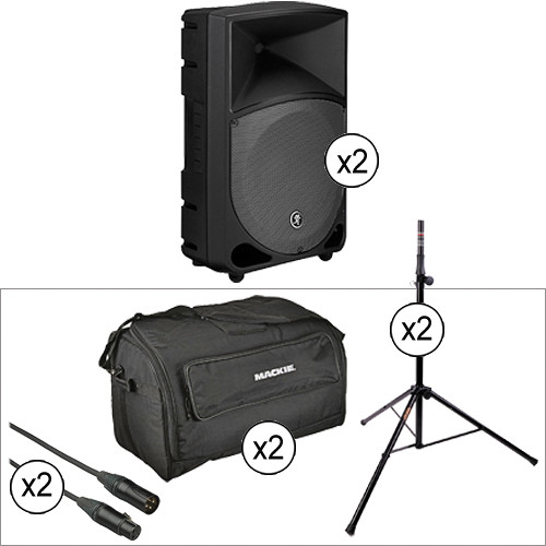 """Mackie TH12A THUMP 400W 12"""" 2-Way Active Loudspeaker Double Kit"""