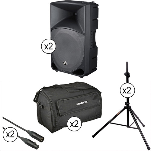 """Mackie TH15A THUMP 400W 15"""" 2-Way Active Loudspeaker Double Kit"""