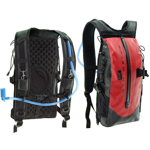 Madwater Action Sports Waterproof Hydration Pack (Red)
