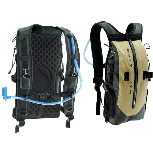 Madwater Action Sports Waterproof Hydration Pack (Khaki)