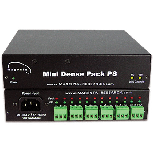 Magenta Voyager Mini Dense Pack Universal Rack Mount Power Supply for MultiView Transmitters/Receivers (5 & 12 VDC)