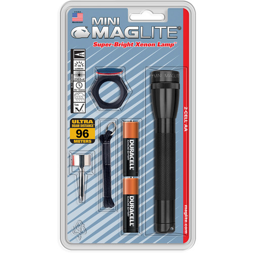 Maglite AA Mini Maglite Flashlight Combo Pack (Black)