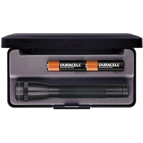 Maglite Mini Maglite 2-Cell AA Flashlight with Presentation Box (Black)