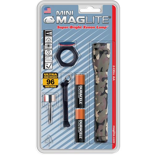 Maglite AA Mini Maglite Flashlight Combo Pack (Woodland Camouflage)