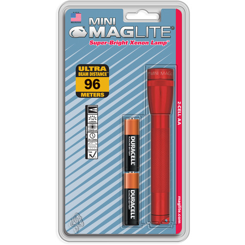 Maglite Mini Maglite 2-Cell AA Flashlight (Red)