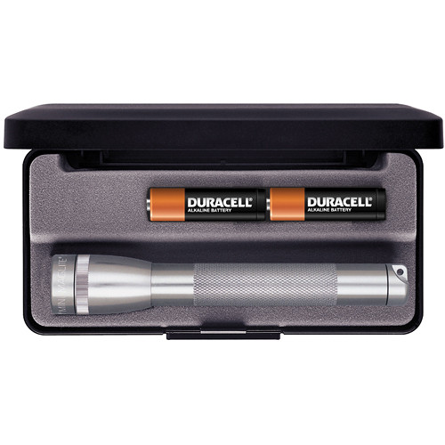 Maglite Mini Maglite 2-Cell AA Flashlight with Presentation Box (Gray)