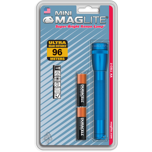 Maglite Mini Maglite 2-Cell AA Flashlight (Blue)