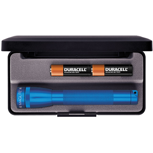 Maglite Mini Maglite 2-Cell AA Flashlight with Presentation Box (Blue)