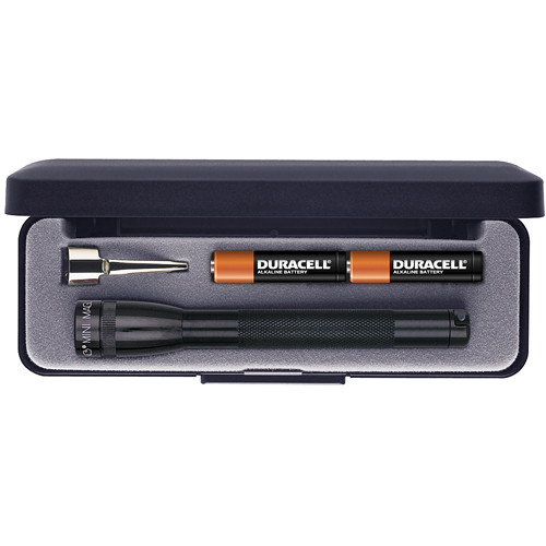 Maglite Mini Maglite 2-Cell AAA Flashlight with Clip and Presentation Box (Black)