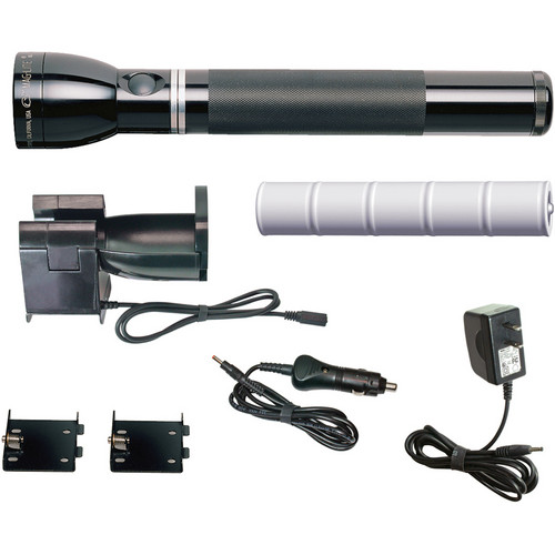 Maglite Mag Charger Rechargeable Flashlight System (12v Adapter and 120v Converter)