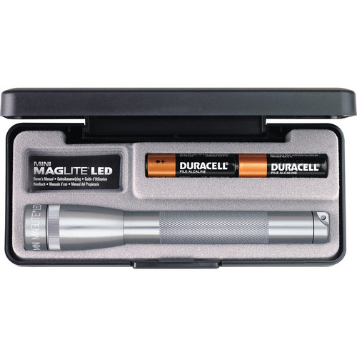Maglite Mini Maglite 2-Cell AA LED Flashlight with Presentation Box (Grey)