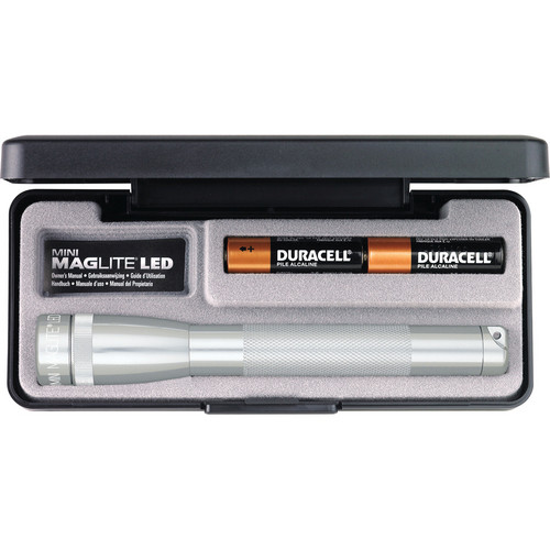 Maglite Mini Maglite 2-Cell AA LED Flashlight with Presentation Box (Silver)