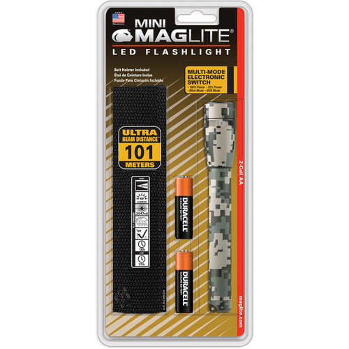 Maglite Mini Maglite 2AA LED Flashlight with Holster (UCP Camo, Clamshell)