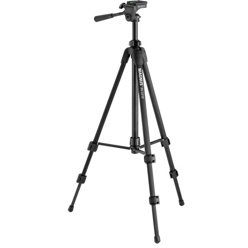 Magnus PV-3310 Photo Tripod With 3-Way Pan and Tilt Head