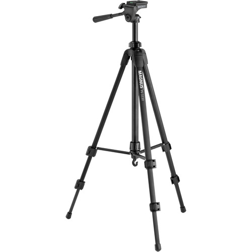Magnus PV-3330 Photo Tripod With 3-Way Pan and Tilt Head