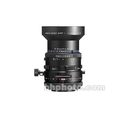 Mamiya 75mm f/4.5 Shift RZ Lens