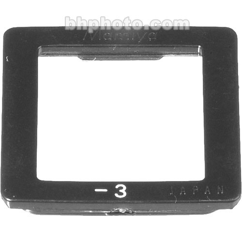 Mamiya -3 Diopter for Prism Finders RB67 and RZ67