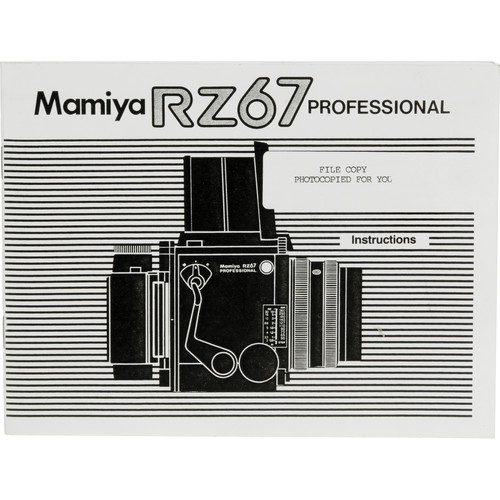 Mamiya Instruction Manual for RZ67