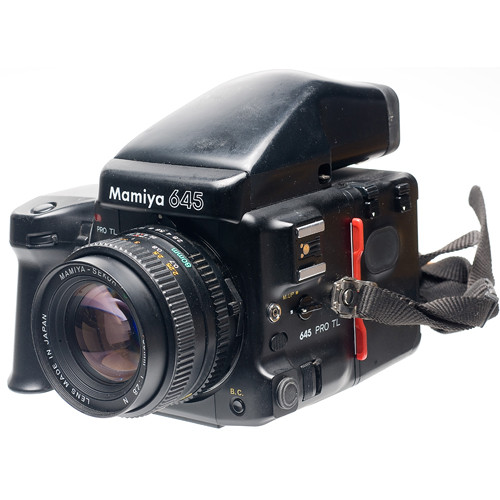 Mamiya 645 Pro TL with 80mm f/2.8 Lens, 120 Film Back, Standard Finder and Powerdrive Grip