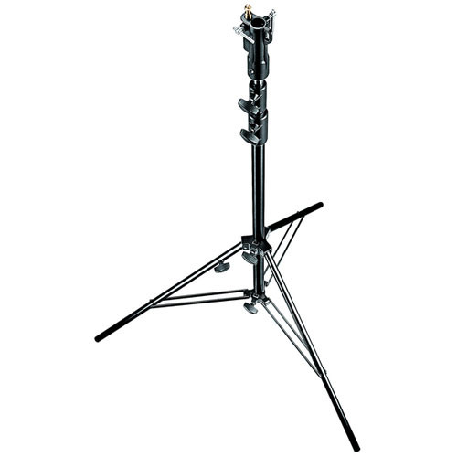 Manfrotto Steel Senior Stand with Leveling Leg (Black/Chrome-plated, 10.6')