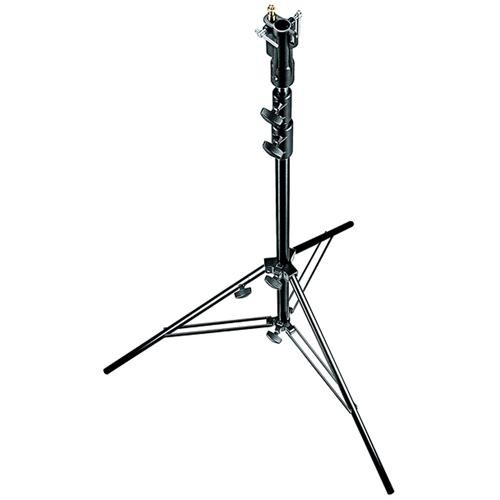 Manfrotto Aluminum Senior Stand with Leveling Leg (Black, 10.3')