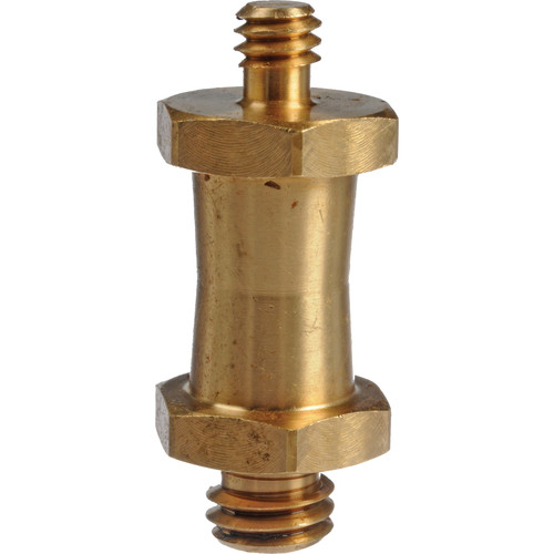"""Manfrotto 037 Reversible Short Stud, with 3/8"""" & 1/4""""-20 Threads (Brass)"""