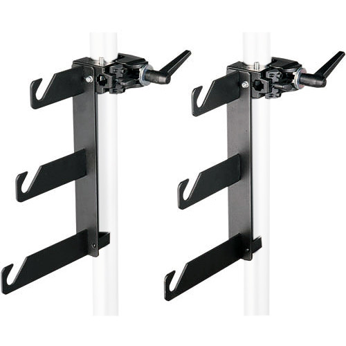 Manfrotto 044 Background Holder Hooks and Super Clamps for 3 Backgrounds - Set of 2