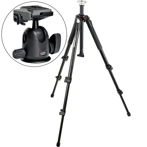 Manfrotto 055XB Tripod with 496RC2 Mini Ball Head Kit