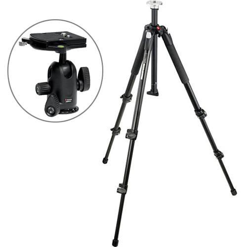 Manfrotto 055XB Tripod Legs with 498RC4 Midi Ball Head