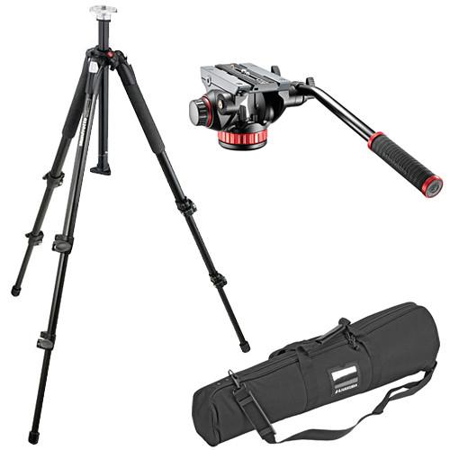 Manfrotto 502HD Pro Video Head & 055XB Tripod Kit