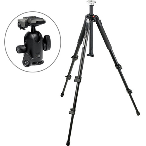 Manfrotto 055XB Tripod with 498RC2 Midi Ball Head Kit