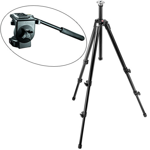 Manfrotto 055XDB,128RC Tripod System (Black)