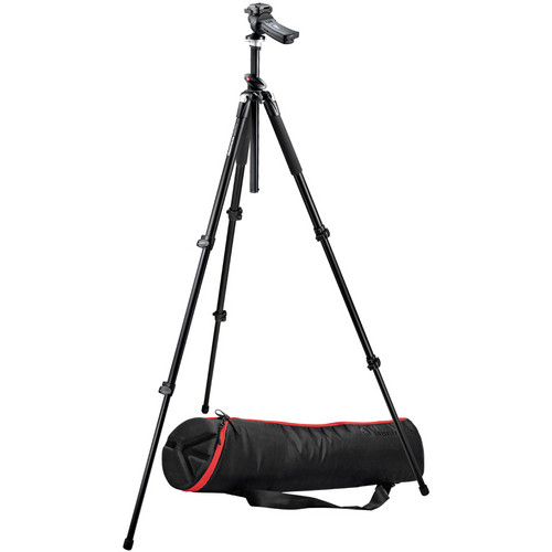 Manfrotto 055XPROB 3-Section Tripod with 322RC2 Ballhead & MBAG80 Padded Bag