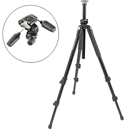 Manfrotto 055XPROB Tripod Legs (Black) w/ 804RC2 Head