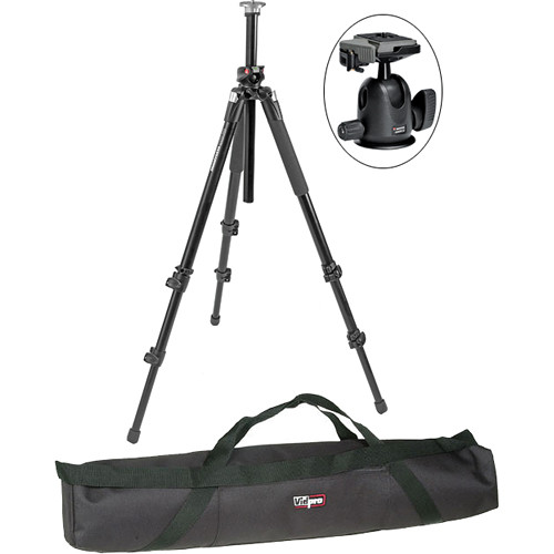 Manfrotto 055XPROB Pro Tripod Legs (Black) with 496RC2 Compact Ballhead & Padded Case