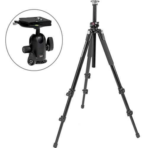 Manfrotto 055XPROB Aluminum Tripod with 498RC4 Midi Ball Head Kit