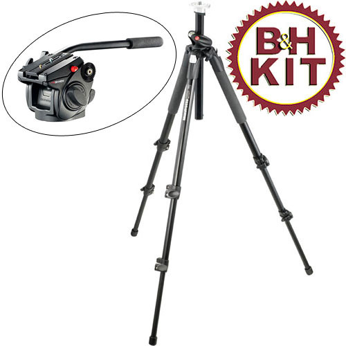 Manfrotto 055XPROB Tripod with 501HDV Head Kit