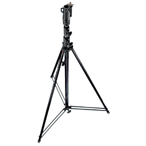 Manfrotto 111BSU Tall Steel Cine Stand with Leveling Leg, Black - 12' (3.6m)