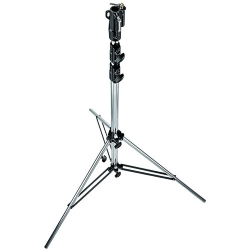 Manfrotto 126CSU Heavy Duty Chrome Plated Steel Stand with Leveling Leg - 10.9' (3.3m)
