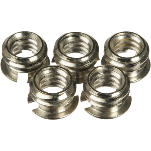 """Manfrotto 148KN Reducing Bushing Set - 3/8""""-16 to 1/4""""-20 (Set of 5)"""