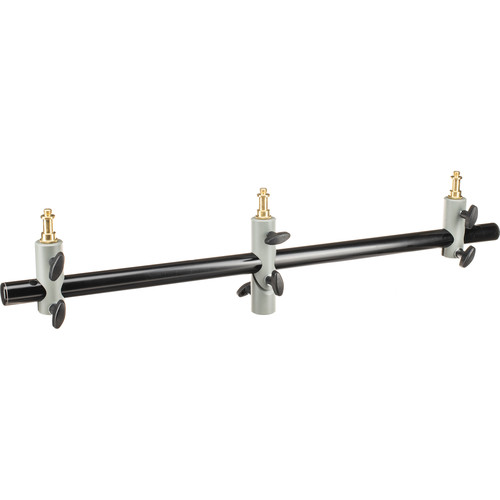 Manfrotto 154 Triple Microphone Holder Bar (Black)
