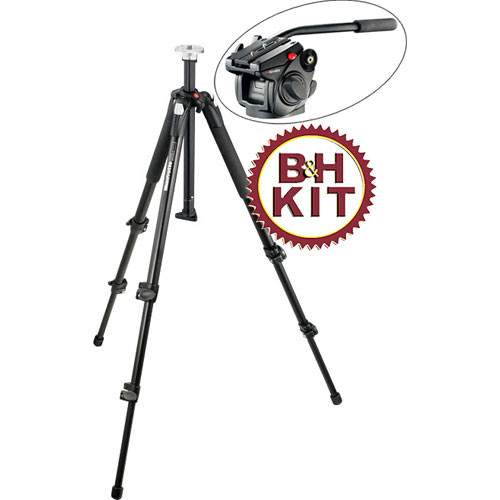 Manfrotto 190XB 3-Section Tripod with 501HDV Head