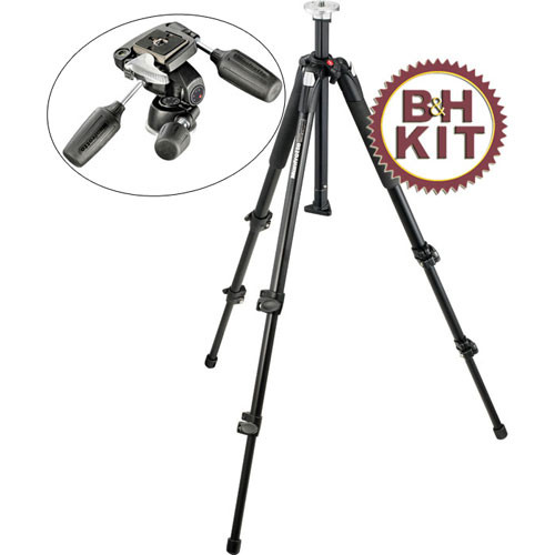 Manfrotto 190XB Tripod with 804RC2 3-Way Pan/Tilt Head Kit
