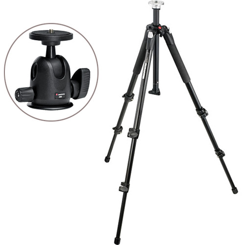 Manfrotto 190XB Tripod Kit with 496 Compact Ball Head Kit