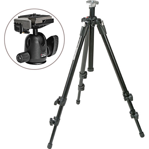 Manfrotto 190XDB Tripod Kit with 494RC2 Mini Ball Head Kit